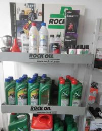 Rock Oil Display Stand in Shop